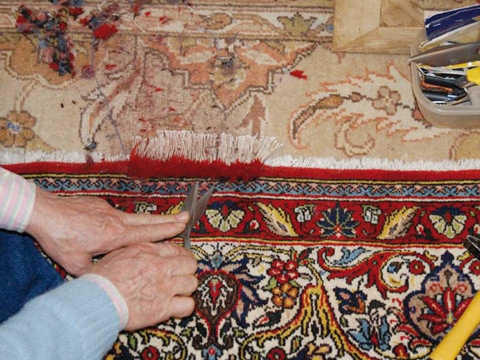 Restauro conservativo tappeti orientali