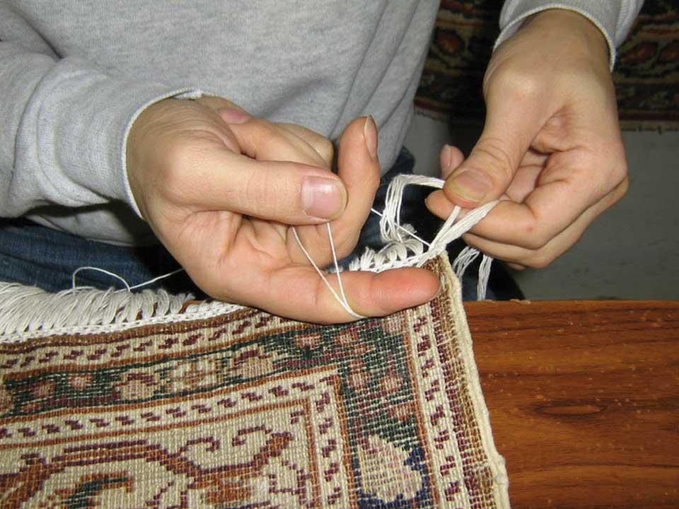 Restauro frange tappeti orientali